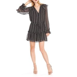 PAIGE Pomello Silk Patterned Dress